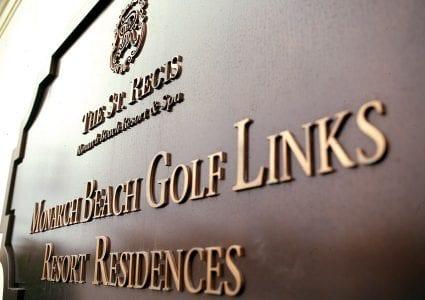 st regis sign for monarch beach golf links resort residences