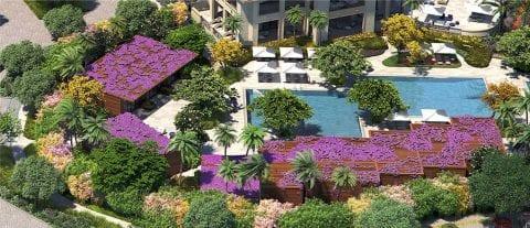 Aerial view of beautiful landscape done by Enea Landscape Architecture