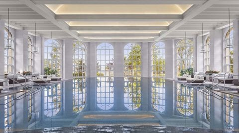 Elegant and luxurious pool designed by Hirsch Bender Associates