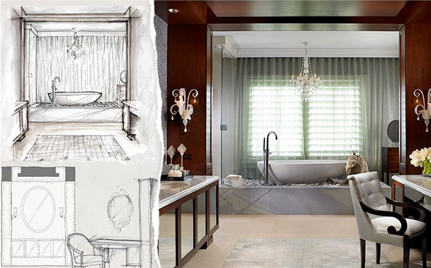 Luxurious bathroom designed by Marc-Michaels Interior Design