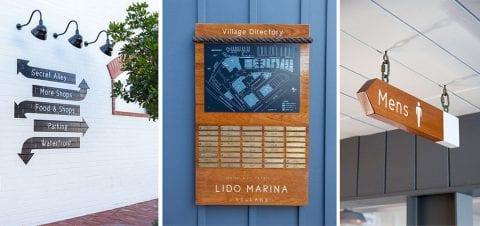 Lido Marina Village Signs