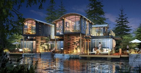 Disney Paris Eco-Resort, another project by SB Architects, the architect of The Residences at The St. Regis Longboat Key