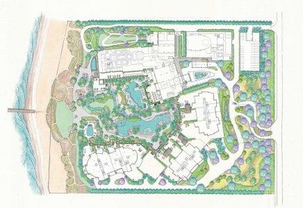 Mastersiteplan for The Residences at The St. Regis Longboat Key
