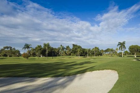 Southwest Florida Golf Course bunker and fairway