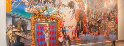 Large scale painting at Ringling Museum in Sarasota