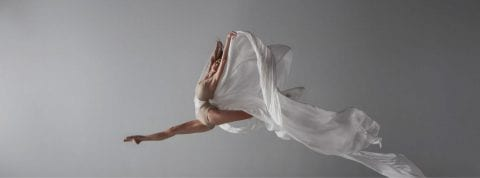 Sarasota Ballet Dancer leaping through the air