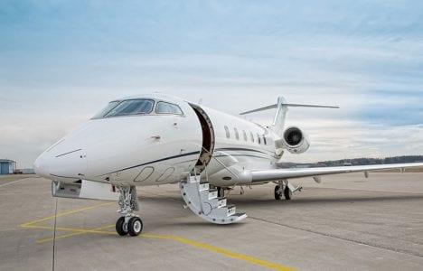 Private Jet at an FBO in Sarasota Florida