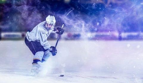 Tampa Bay Lightning Hockey player on ice