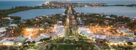 Aerial photo of Sarasota Florida
