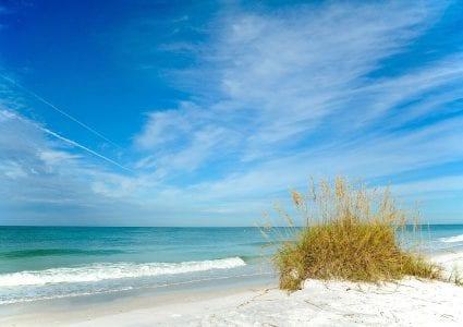 White-Sand Beach & ocean waves at The Residences at The St. Regis Longboat Key Resort