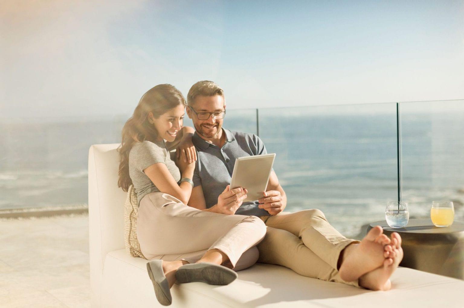 Couple Relaxing at The St Regis Longboat Key Resort