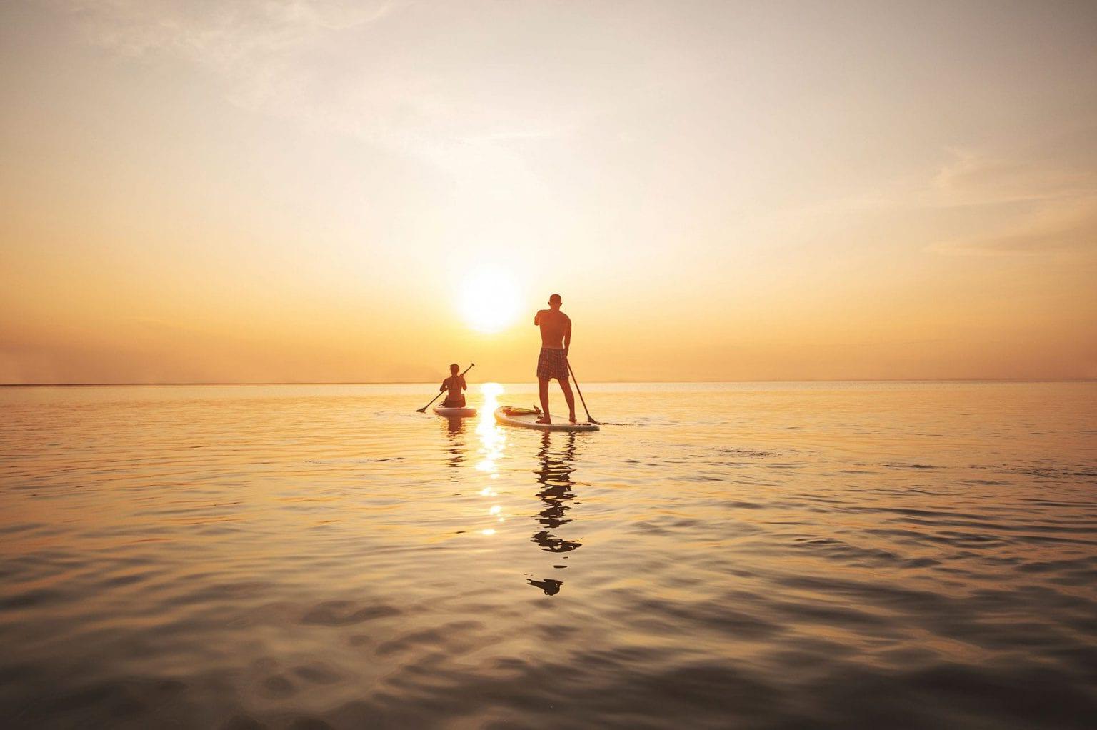 Paddleboarding at Longboat Key