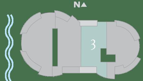 Cristal 3 footprint of The Residences The St. Regis Longboat Key