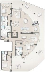 Cristal Floor Plan at The Residences The St. Regis Longboat Key