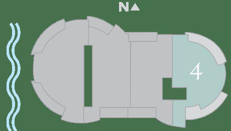 Cristal 4 footprint of The Residences The St. Regis Longboat Key