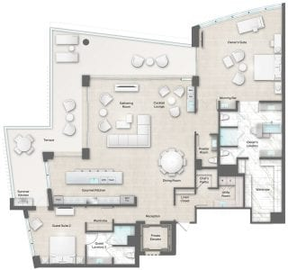 Moet 10-11 Floor Plan at The Residences The St. Regis Longboat Key