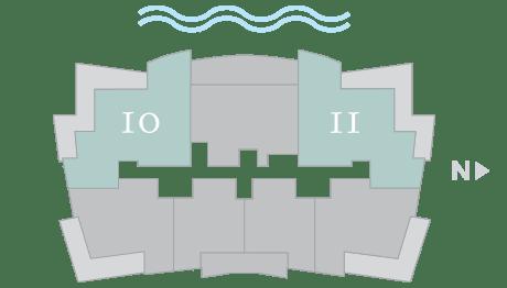 Moet 10-11 footprint of The Residences The St. Regis Longboat Key