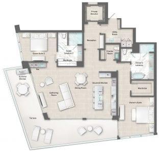 Moet 12-13 Floor Plan at The Residences The St. Regis Longboat Key