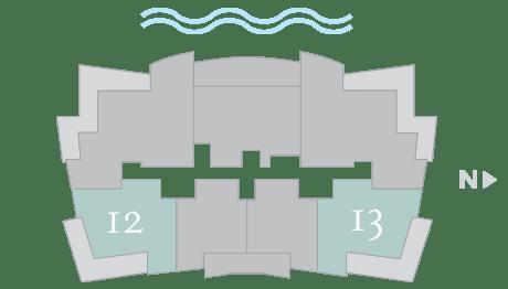 Moet 12-13 footprint of The Residences The St. Regis Longboat Key