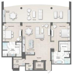 Moet 14 Floor Plan at The Residences The St. Regis Longboat Key