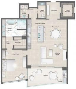 Moet 15-16 Floor Plan at The Residences The St. Regis Longboat Key
