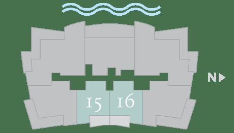 Moet 15-16 footprint of The Residences The St. Regis Longboat Key