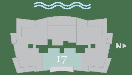 Moet 17 footprint of The Residences The St. Regis Longboat Key