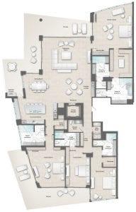 Moet 19-18 Floor Plan at The Residences The St. Regis Longboat Key