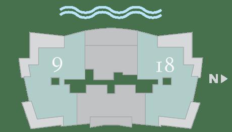 Moet 9-18 footprint of The Residences The St. Regis Longboat Key