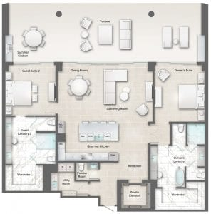 Perignon 6 Floor Plan at The Residences The St. Regis Longboat Key