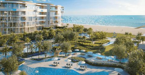 Pool & Ocean beside The Residences at The St. Regis Longboat Key Resort