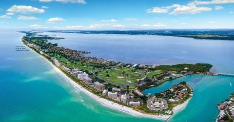 Longboat Key Florida, location of The Residences at The St. Regis with rendering