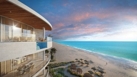 The Residences at The St. Regis Longboat Key Resort Exterior balcony with ocean view