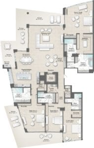 Champagne 9 & 18 Floorplan at The Residences at The St. Regis Longboat Key Resort