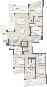 Bateau 5 Floorplan at The Residences at The St. Regis Longboat Key Resort