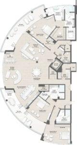 Armand 1 Floorplan at The Residences at The St. Regis Longboat Key Resort