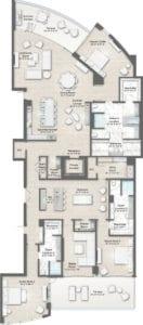 Armand 2 Floorplan at The Residences at The St. Regis Longboat Key Resort