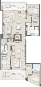 Armand 3 Floorplan at The Residences at The St. Regis Longboat Key Resort
