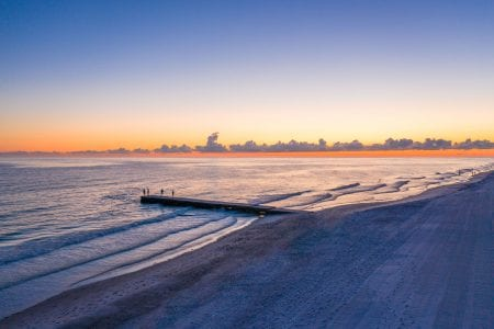 Gulf of Mexico at Sunset outside The Residences at The St. Regis Longboat Key Resort