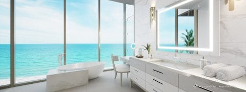 Armand Plan 1 Master Bath Rendering at The St Regis Longboat Key Resort