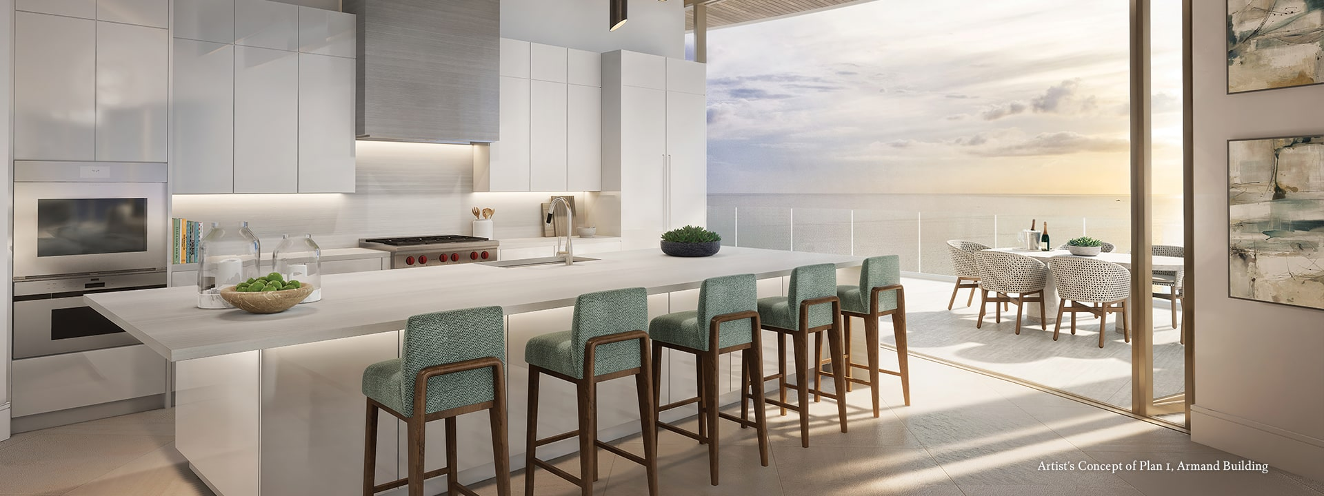 Armand Plan 1 Kitchen Rendering at The St Regis Longboat Key Resort