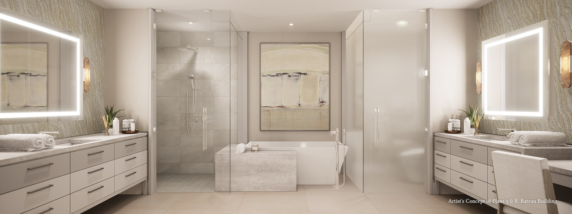 Bateau Plan 5 & 8 Bath Rendering at The St Regis Longboat Key Resort