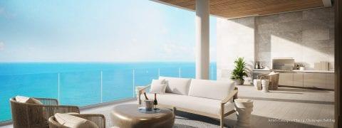 Champagne Plan 14 Terrace Rendering at The St Regis Longboat Key Resort