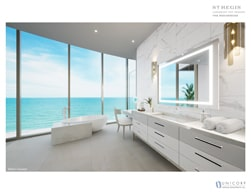 St Regis Rendering bathroom with a view
